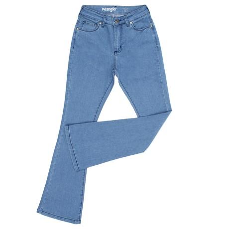 Calça Jeans Flare Feminina Azul com Elastano Original Wrangler 27369