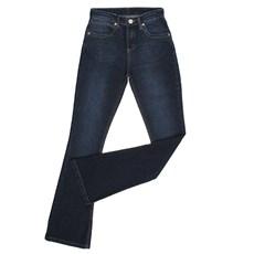 Calça Jeans Flare Feminina Azul Escuro com Elastano Original Wrangler 26133