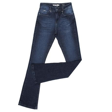 Calça Jeans Flare Feminina Azul Escuro Original Wrangler 23982