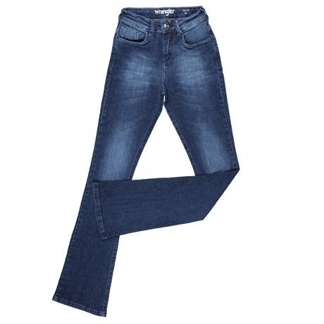 7bdbac168 Calça Jeans Flare Feminina Original Wrangler Azul 23979 - Rodeo West