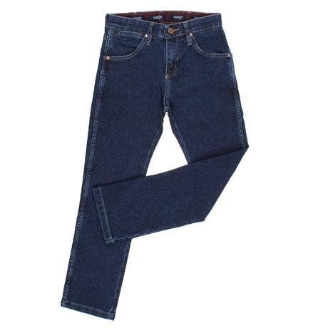 Calça Jeans Infantil Azul Escuro com Elastano Original Wrangler 23136