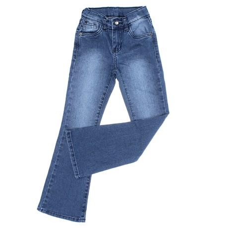 Calça Jeans Infantil Feminina Azul Boot Cut Tassa 30006