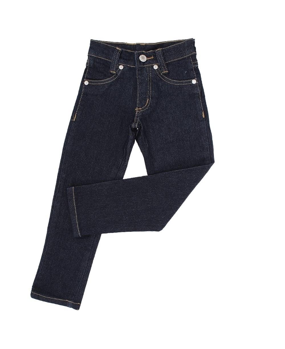Calça Jeans Infantil Feminina Azul Escuro com Elastano - Dock ´ s 18714