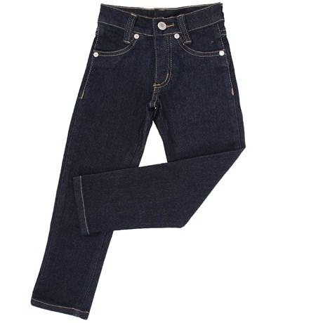 Calça Jeans Infantil Feminina Azul Escuro com Elastano - Dock's 18714