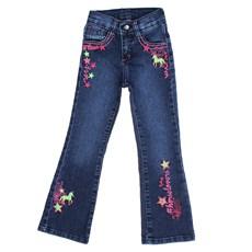 Calça Jeans Infantil Feminina Boot Cut Azul Tassa Gold 28150