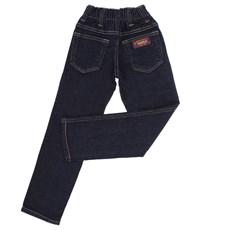 Calça Jeans Infantil Masculina Azul Escuro com Elastano - Dock's 18713