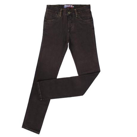 Calça Jeans Marrom Masculina Rodeo Western com Elastano 23335
