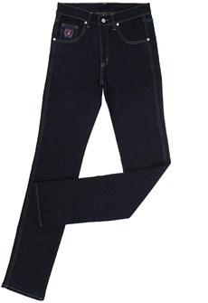 Calça Jeans Masculina Azul Escuro Tradicional com Elastano - Dock's 18702