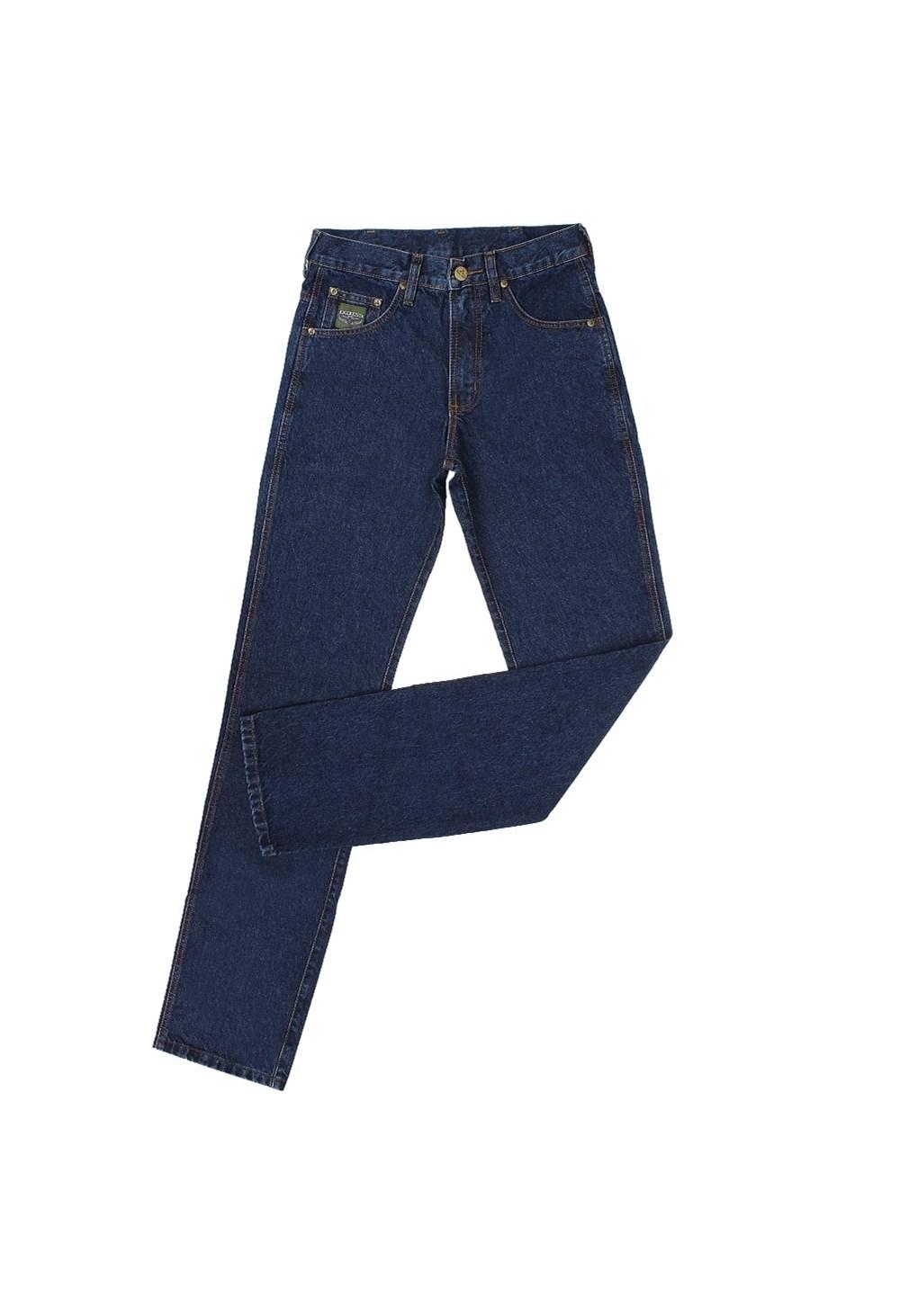 Calça Jeans Masculina Escura Green King Original Fit 100% Algodão - King Farm 19113 Azul escuro