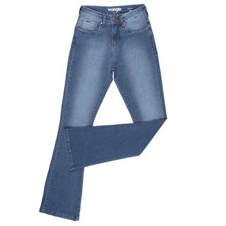 42bde0912 Calça Jeans Original Wrangler Flare Feminina Azul 23981 - Rodeo West