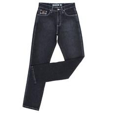Calça Jeans Preta Tradicional Masculina Dock's 25684