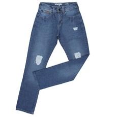 Calça Jeans Reta Masculina Original Wrangler Azul 23987