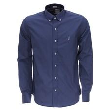 Camisa Austin Western Masculina Manga Longa Azul 25913