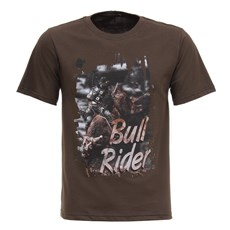 Camisa Bull Rider Masculina Marrom Texas Diamond 27814