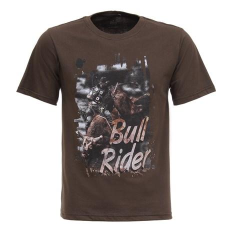 Camisa Bull Rider Masculina Marrom Texas Diamond 27814