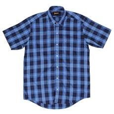 Camisa Fast Back Xadrez Azul Masculina 22167