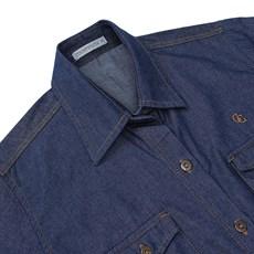 Camisa Feminina Jeans Country & Cia Azul 20934