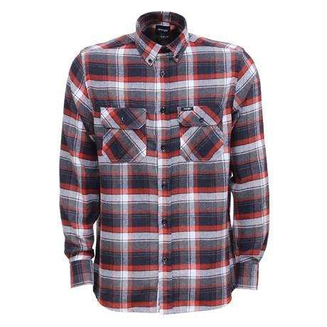Camisa Flanelada Masculina Xadrez Vermelha Wrangler Original 26860