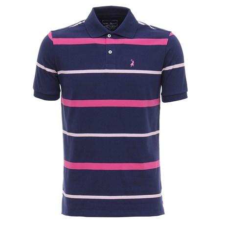 Camisa Gola Polo Austin Western Masculina Azul Listrada 27145