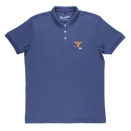 Camisa Gola Polo Azul Masculina Original Wrangler 20X 24721
