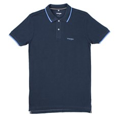Camisa Gola Polo Azul Masculina Original Wrangler 23740