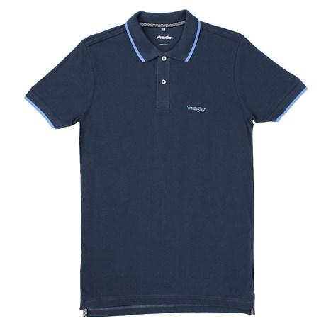 c8d1e61910 Camisa Gola Polo Azul Masculina Original Wrangler 23740 - Rodeo West