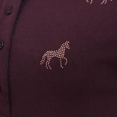 Camisa Gola Polo Feminina Bordô Cavalos Tassa 28154