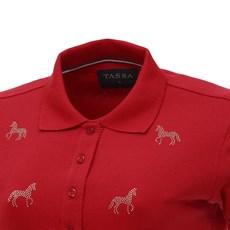Camisa Gola Polo Feminina Vermelha Tassa 26788