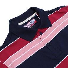 Camisa Gola Polo Listrada Rodeo Western Masculina Azul Marinho 24620