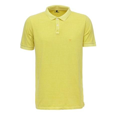 Camisa Gola Polo Masculina Amarela Original Wrangler 26614