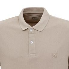 Camisa Gola Polo Masculina Bege TXC 29330