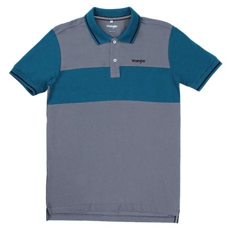 Camisa Gola Polo Masculina Cinza Original Wrangler 23736