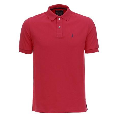 Camisa Gola Polo Rosa Masculina Austin Western 28726
