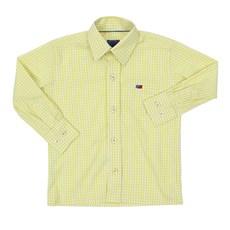 Camisa Infantil Manga Longa Quadriculado Amarelo Smith Brothers 29245