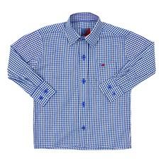 Camisa Infantil Manga Longa Quadriculado Azul Smith Brothers 29248