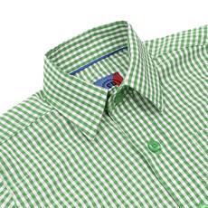Camisa Infantil Manga Longa Quadriculado Verde Smith Brothers 29253