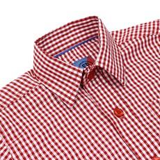 Camisa Infantil Manga Longa Quadriculado Vermelho Smith Brothers 29252