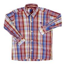 Camisa Infantil Manga Longa Xadrez Vermelho Smith Brothers 29251