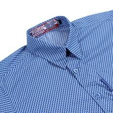 Camisa Infantil Masculina Azul Estampada Rodeo Western 26366