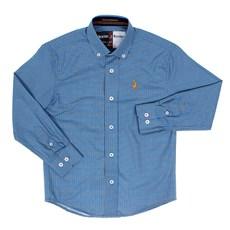 Camisa Infantil Masculina Manga Longa Xadrez Azul Austin Western 29796