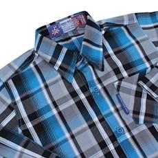 Camisa Infantil Masculina Manga Longa Xadrez Azul Rodeo Western 22600
