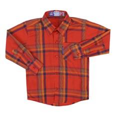 Camisa Infantil Masculina Xadrez Vermelho Rodeo Western 22599