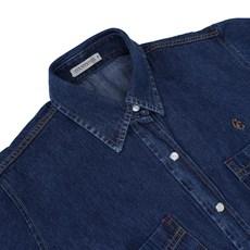 Camisa Jeans Feminina Country e Cia Azul 20143
