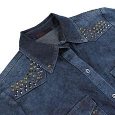 Camisa Jeans Feminina Tassa Gold Manga Longa 23855