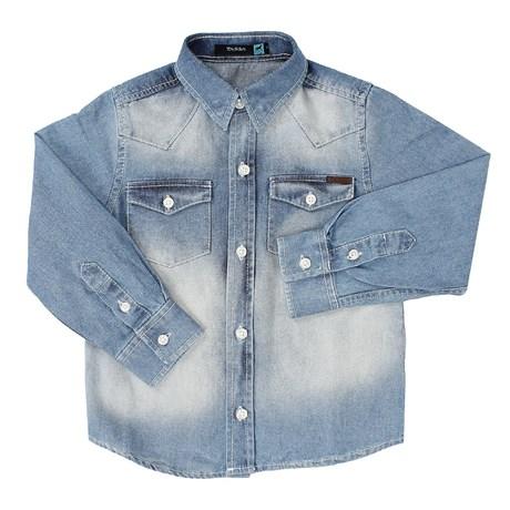 a447222748 Camisa Jeans Infantil Masculina Manga Longa Tassa Boys 21379 - Rodeo ...