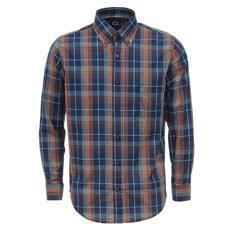 Camisa Listrada Manga Longa Azul Masculina Tuff 27928