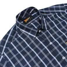 ... Camisa Manga Curta Fast Back Xadrez Azul Masculina 23134 5dbb34c9309dc