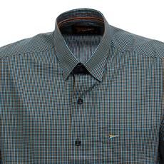 Camisa Manga Curta Masculina Azul Xadrez Fast Back 29455