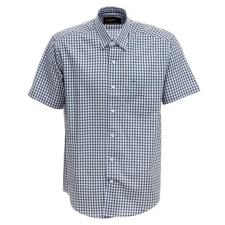 Camisa Manga Curta Masculina Azul Xadrez Fast Back 29456