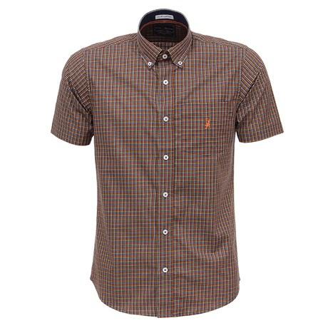 Camisa Manga Curta Masculina Quadriculado Colorido Austin Western 27709